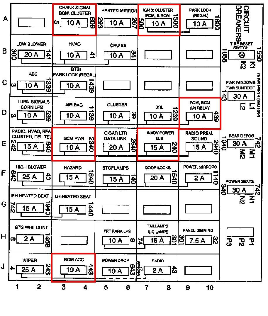 fuse box for horn and a/c | 1999 buick regal support 1999 buick regal fuse diagram