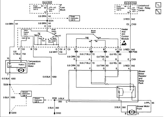1998 chevy astro van diagrams 1997 chevy astro wiring diagrams wiring diagram for front/rear air conditioner? air not ...