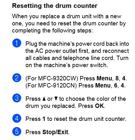 how to reset drum counter on brother mfc 9320cw brother international mfc 7820n support brother mfc 7420 manual brother mfc 7820n manuel
