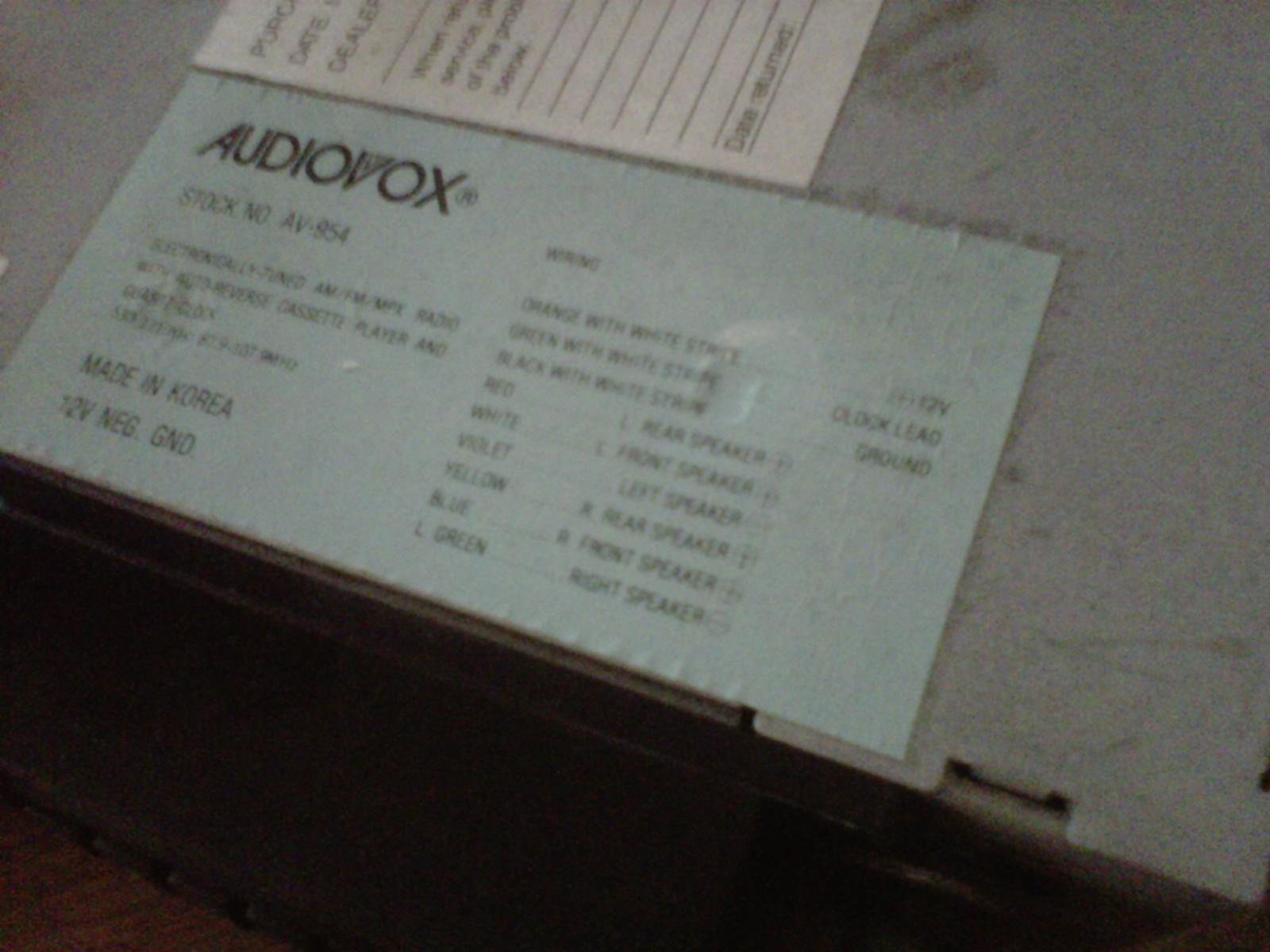 audiovox 2 way radio manual