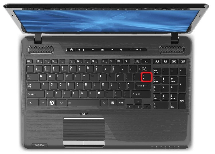 Backslash Key On Keyboard | Toshiba Satellite P755-S5390 ...