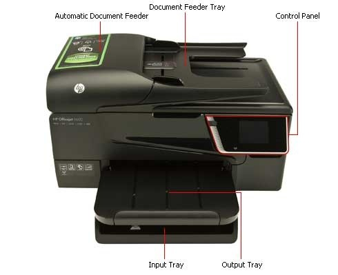 how to install the input and output tray | hp officejet ... ford 6600 wiring diagram #1