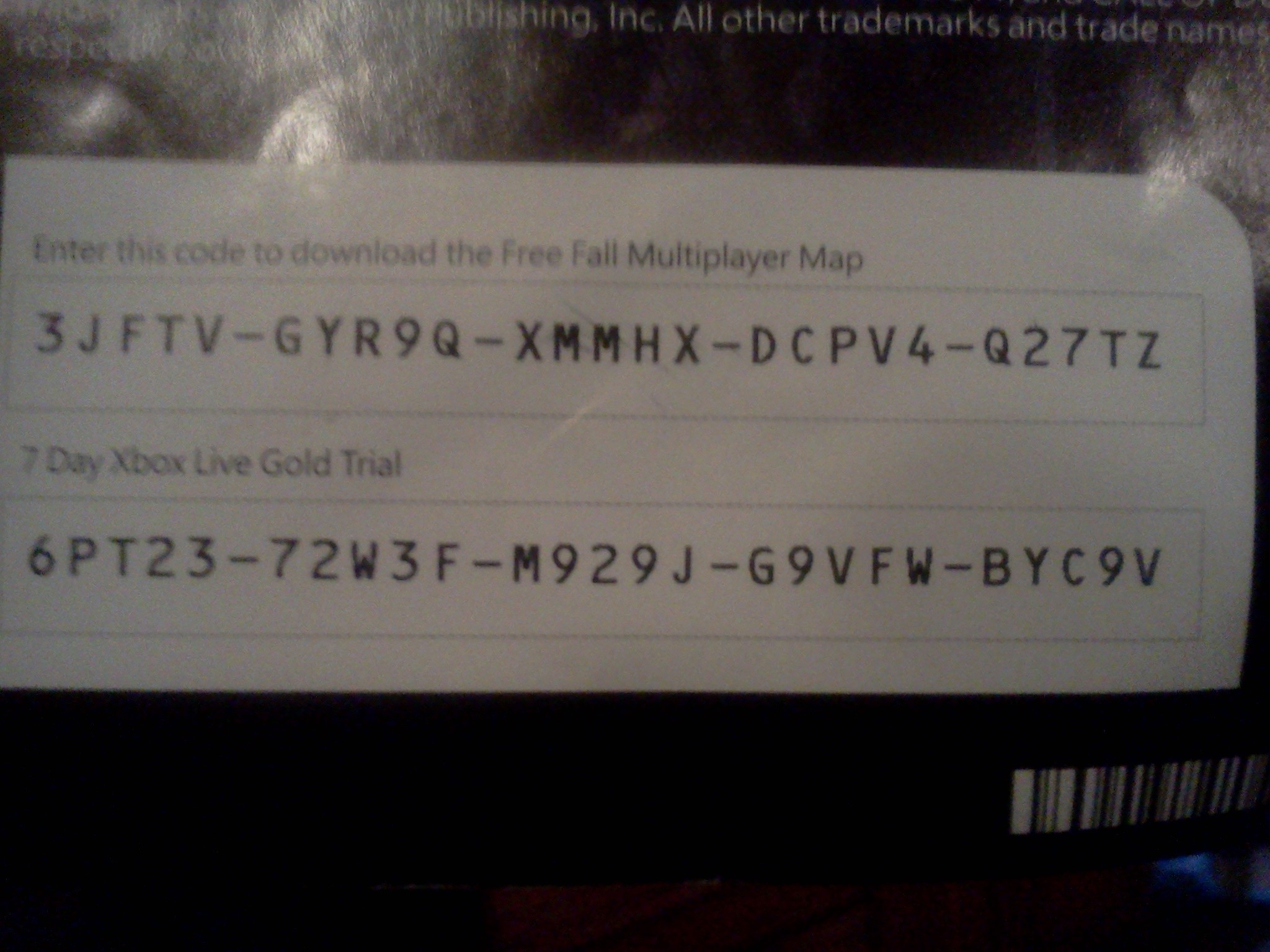 Xbox Live Gold Free Trial Code