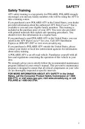 2012 Polaris Sportsman 850 Owners Manual